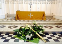 The Easter display in the Sanctuary