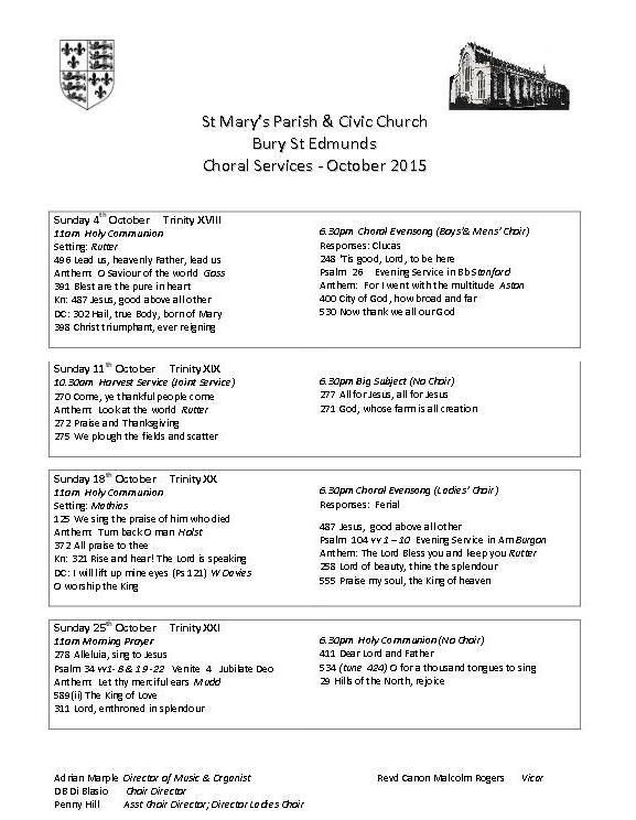 Half term, half choir… | St Mary's Organist