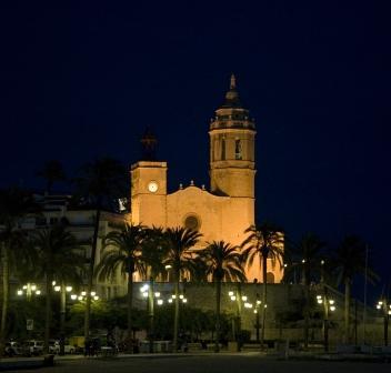St Bartholomew Church in the dark